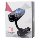 T10 Car Bluetooth mãos-livres Kit Transmissor FM MP3 Player - Preto