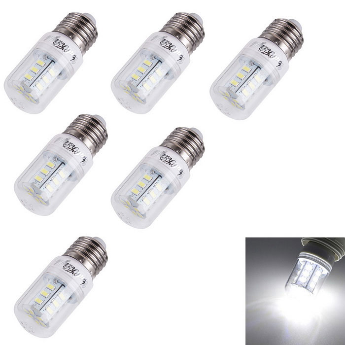 Youoklight E27 2.5W LED Maisbirnenlampe kaltes Weiß 24-SMD 5730 (6PCS)