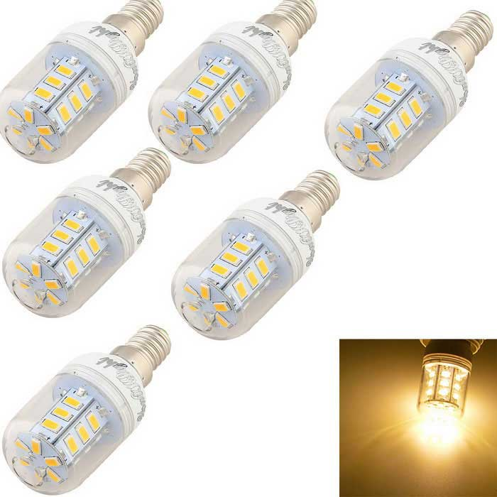 YouOKLight E14 2.5W LED Corn Bulb Lamp Warm White 24-SMD 5730 (6PCS)