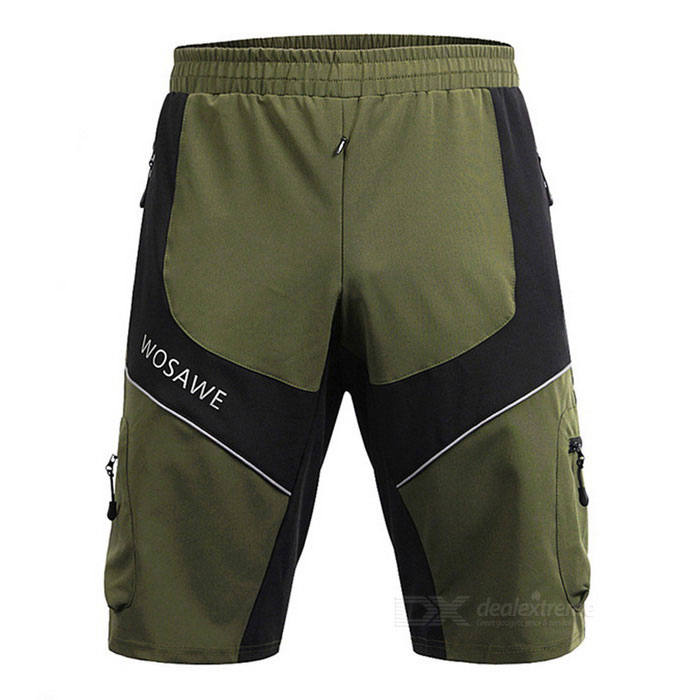 WOSAWE BC181-00M Outdoor Sports Short Pants - Army Green + Black (M)