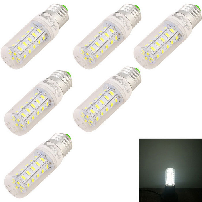 YouOKLight E27 4W LED Corn Bulb Lamp Cold White 36-SMD 5730 (6PCS)