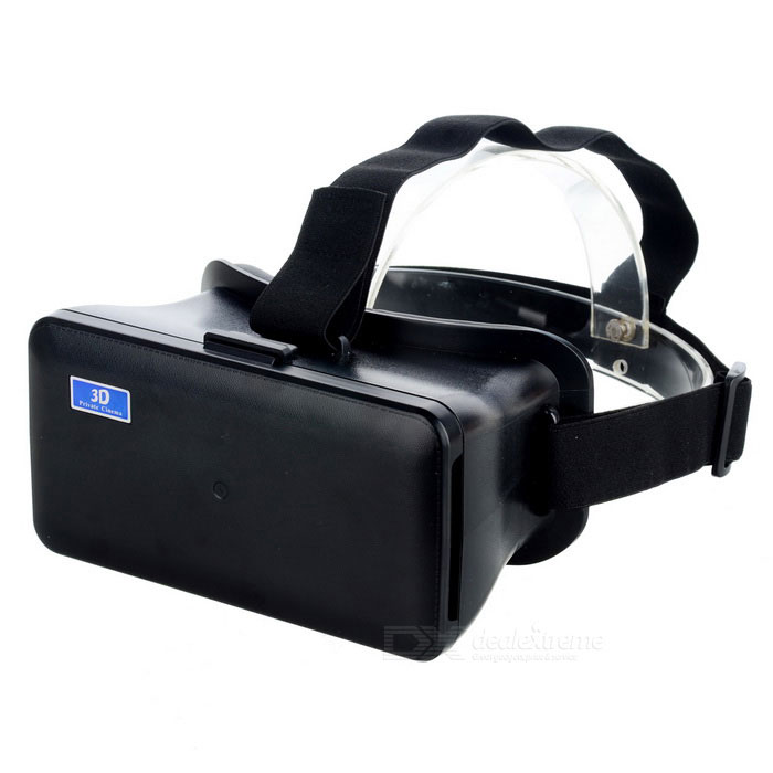 "Virtual Reality VR 3D Video Helmet Glasses for 4.3""~6.3"" Phone - Black"
