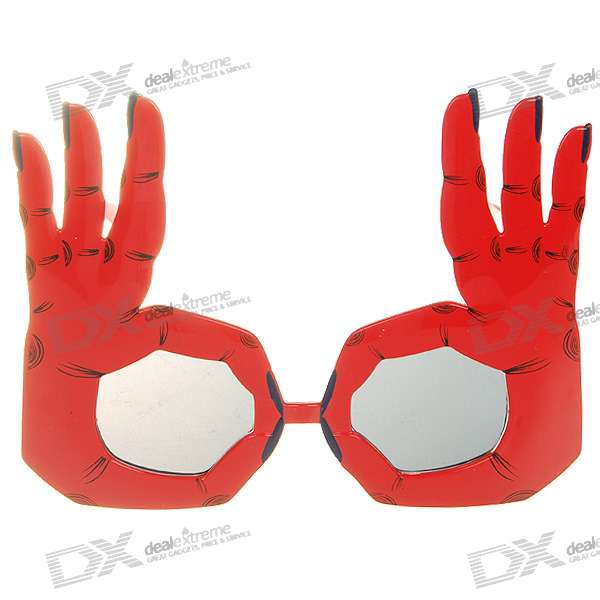 Decorative UV400 OK Gesture Glasses (Color Assorted)