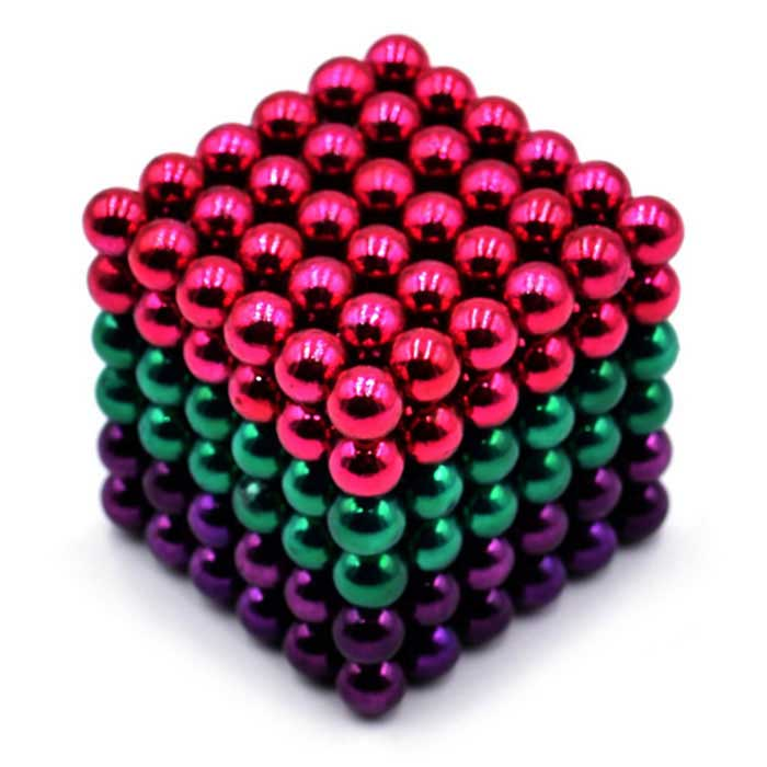 5mm Puzzle Magnetic Beads Toy - Dark Pink + Green + Purple (216PCS)Magnets Gadgets<br>Form  ColorDark Pink + Green + PurpleMaterialMagnetQuantity1 DX.PCM.Model.AttributeModel.UnitNumber216Suitable Age 5-7 years,8-11 years,12-15 years,Grown upsPacking List216*Magnets<br>