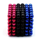 5mm Puzzle Magnetic Beads Toy - Blue + Black + Dark Pink (216PCS)