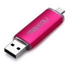 MaiKou 64GB OTG USB 2.0 Flash Disk U - Deep Pink
