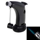 Outdoor Mini Windproof Butane Gas Torch Lighter - Black