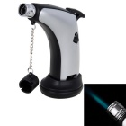 Outdoor Mini Windproof Butane Gas Torch Lighter - Silver