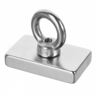 NdFeB Magnet with Eyebolt Circular Ring for Salvage - Silver