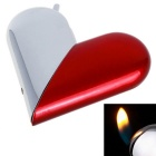 Creative Foldable Heart Shape Butane Gas Lighter - Red + Silver