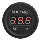 F002 LED Display Waterproof Voltmeter for Car, Motorcycle - Black