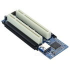 PCI-E to 2-PCI Expansion Card Adapter Card - Dark Blue + Silver