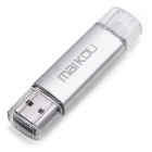 Maikou 64 GB OTG USB 2.0 flash U disco - plata