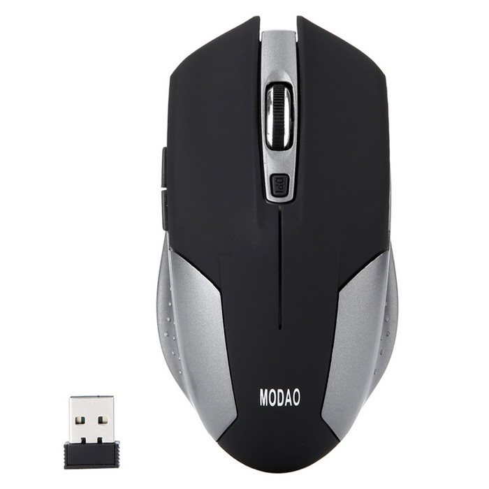 MODAO E31 Ergo 6 Keys Silent 2.4GHz Wireless Gaming Mouse - Black