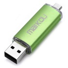 MaiKou de doble puerto 32 GB USB OTG 2.0 T Flash Disk - Verde
