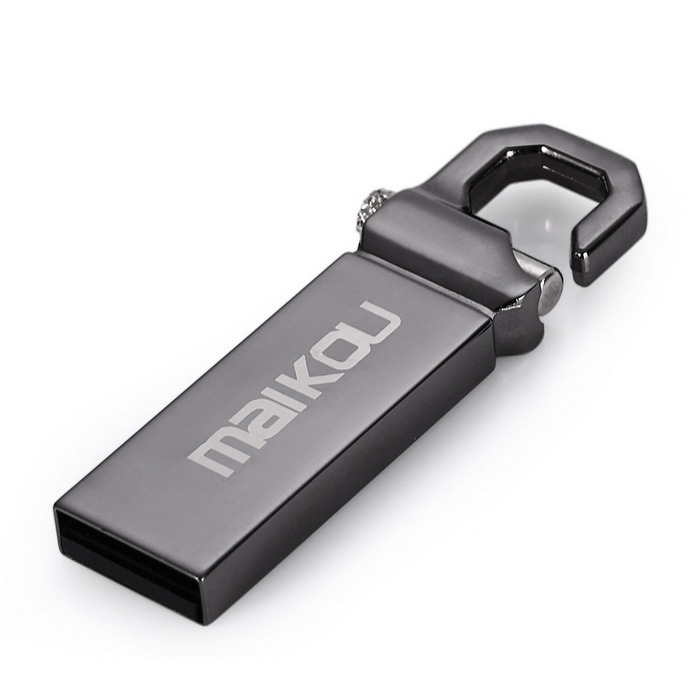 Maikou MK2204 16GB USB 2.0 Flash Tungsten Steel U Disk - Dark Grey