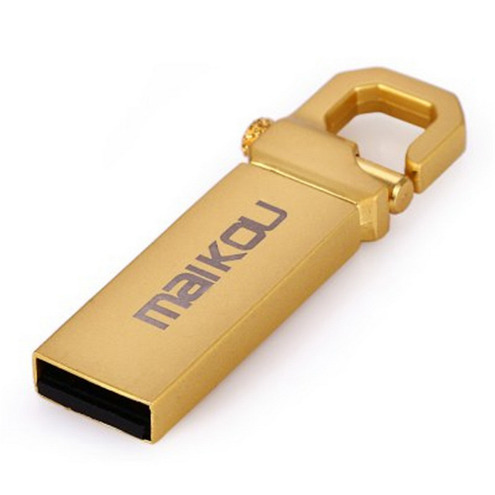 Maikou MK2204 16GB USB 2.0 flash U disco - prata + ouro