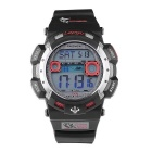 Pasnew PLG-1002D Outdoor Sports Waterproof Electronic Watch -Black+Red