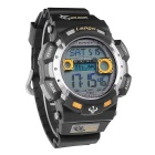 Pasnew PLG-1002D Outdoor Waterproof Electronic Watch -Black + Yellow