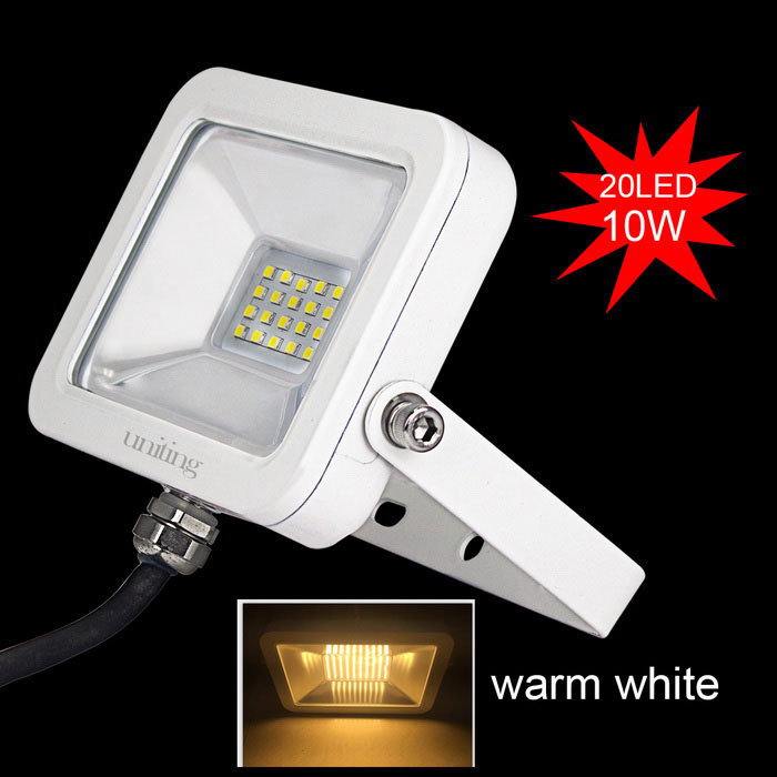 Uniting IP65 10W 20-2835 LED Warm White Flood Light (AC 100-240V)