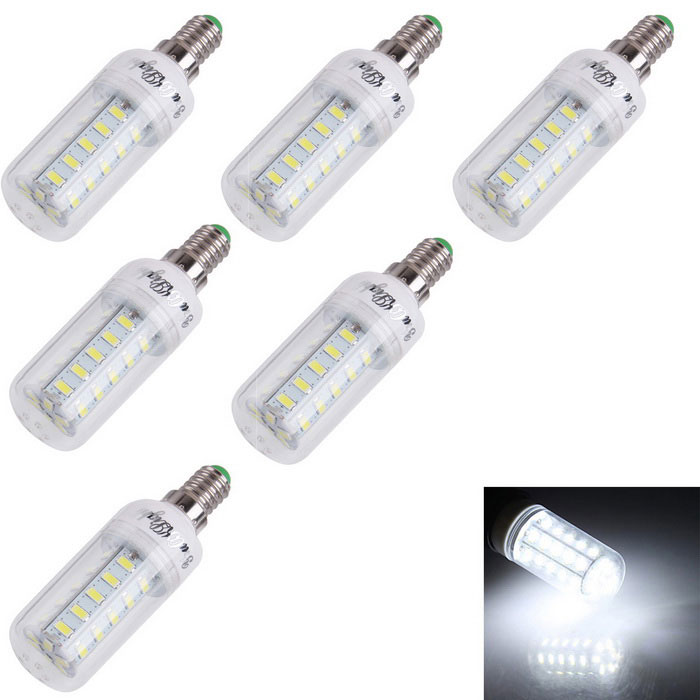 YouOKLight E14 4W LED milho bulbo Cool White 280lm 36-SMD 5730 (6PCS)