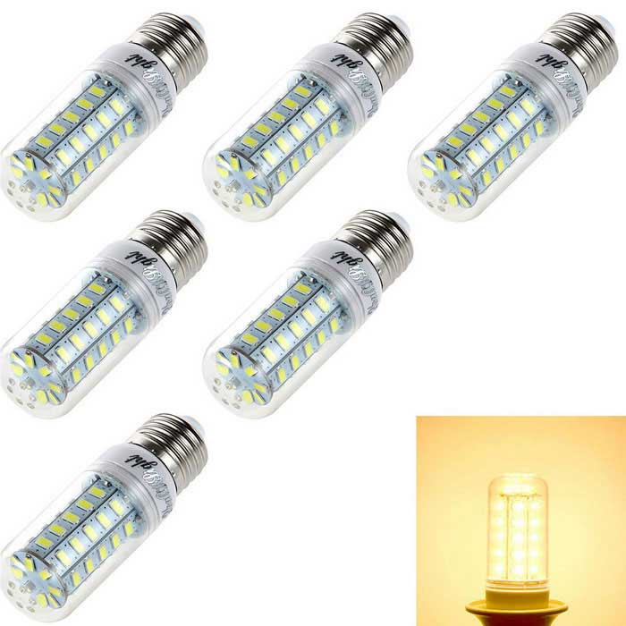 YouOKLight E27 4W LED Corn Bulb Lamp Warm White 48-SMD 5730 (6PCS)