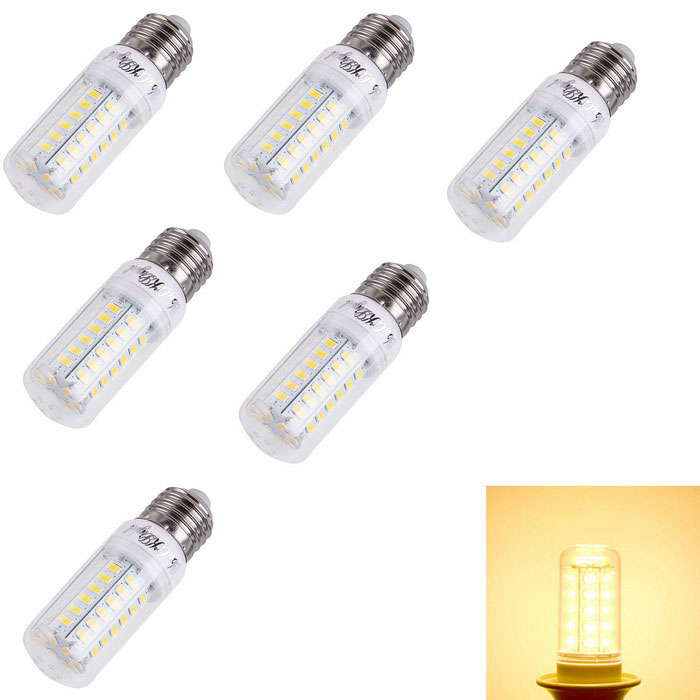 YouOKLight E27 4W LED milho bulbo lâmpada Warm White 56-SMD 5730 (6PCS)