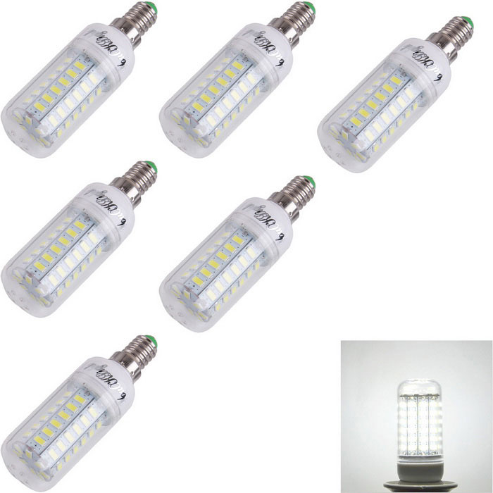 YouOKLight E14 4W LED Corn Bulb Lamp Cold White 56-SMD 5730 (6PCS)