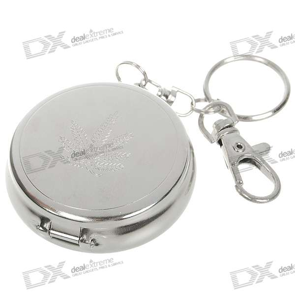 Mini Portable Pocket Metal Ashtray Keychain
