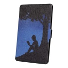 Reading Under the Tree Pattern Case for Kindle Paperwhite - Black+Blue