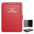 Classic Design Auto Sleep Case for Kindle Paperwhite 1/2/3 - Red