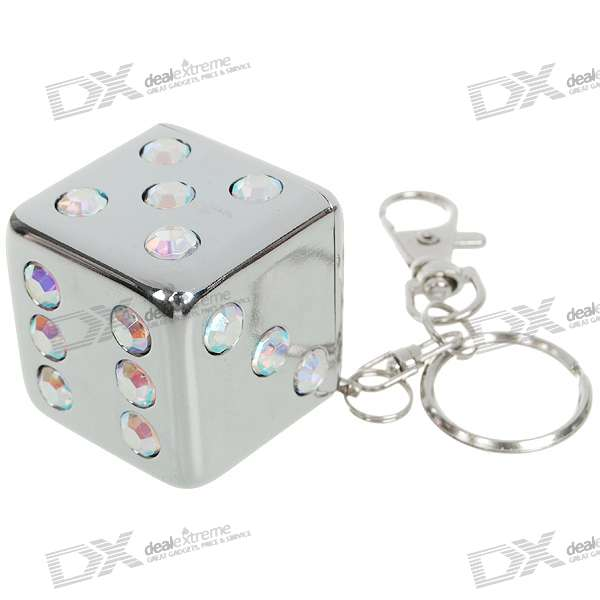 Mini Portable Dice Shaped Pocket Ashtray Keychain