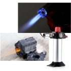 Portable Outdoor Cooking Handheld Torch Butane Gas Lighter - Silver