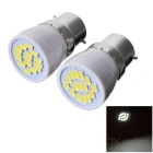 B22 3W LED Bulb Lamp Cool White Light 15-SMD 5730 (AC 220V / 2 PCS)
