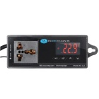 Digital LED Temperature Controller Thermostat for Aquarium - Black