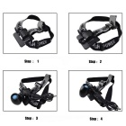 RichFire 1000lm Neutral White LED Cycling Headlamp - Black (4*18650)