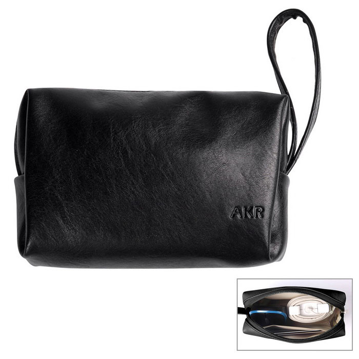 AKR PU Storage Bag Case - Black