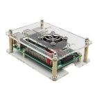V34 Acrylic Case + Cooling Fan for Raspberry Pi 3B/2B/B+ - Transparent