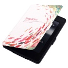 Shoal of Fish Pattern PU Case for Kindle Paperwhite 1/2/3 - White