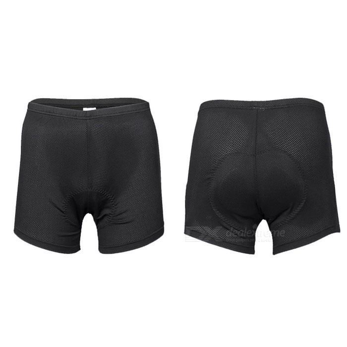 INBIKE Unisex Cycling Padded Underwear - Black + Blue (L)