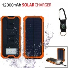 "SUNGZU ""12000mAh"" Dual USB Solar Power Battery Bank - Orange"