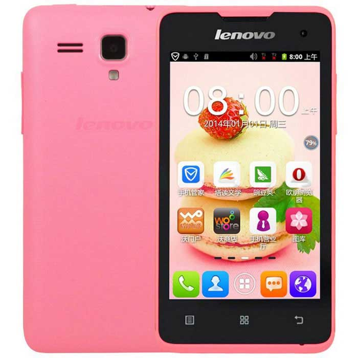"Lenovo A396 4.0"" Android 2.3 Quad Core Cell Phone - Pink (US Plug)"