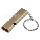 FURA Outdoor Aluminum Alloy Dual-Channel Treble Whistle - Golden