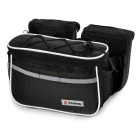 Yanho 4-in-1 Multifunctional Bike Top Tube Saddle Bag - Black + White
