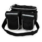 Yanho 4-em-1 multifuncional bicicleta tubo Top Saddle Bag - Black + White