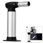 Professional Chef's Blowtorch Outdoor Butane Gas Lighter - Silver