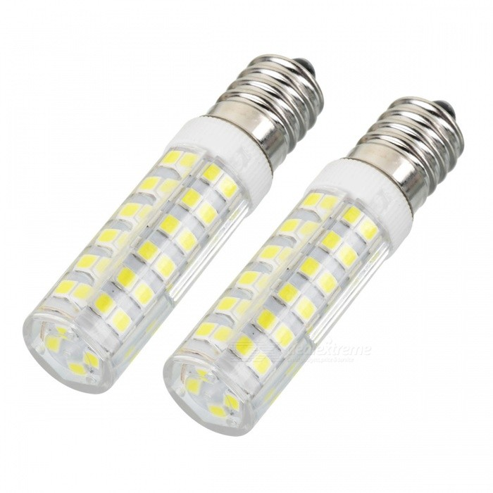 JRLED E14 7W 75-2835SMD Cold White LED Ceramic Bulb (AC 220V, 2PCS)