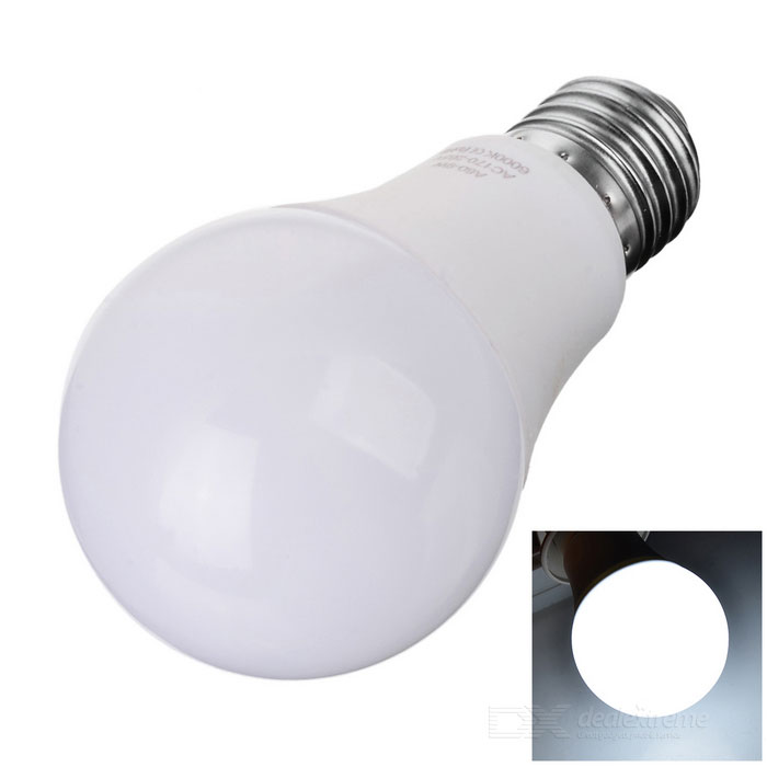 E27 9W 18-SMD 3535 LED Cold White Light Globe Bulb - White (170~265V)