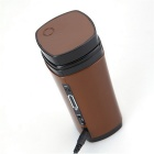 Silicone USB Coffee Cup w/ Automatic Stirring Function - Brown (130ml)