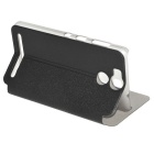 Protective PU Leather Smart Case w/ Stand for Ulefone Power - Black
